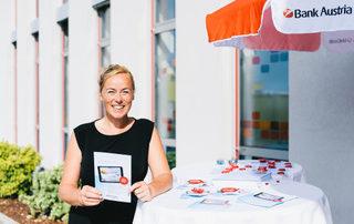 Veranstaltungsmanagement - Eröffnung der Bank Austria Filiale