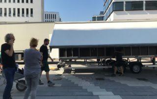 Aufbau LED Wall - Event-Koordination