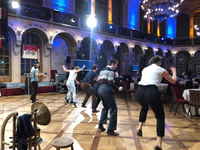 """Generalprobe der Mitternachtseinlage """"Swing Tanzgruppe"""""""
