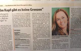 Eva Maikisch in den Vorarlberger Nachrichten