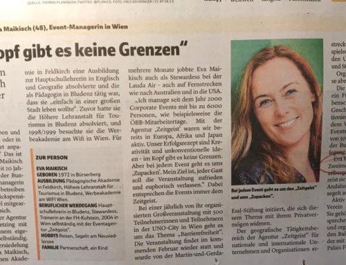 Eva Maikisch in Verlagsreihe der Vorarlberger Nachrichten