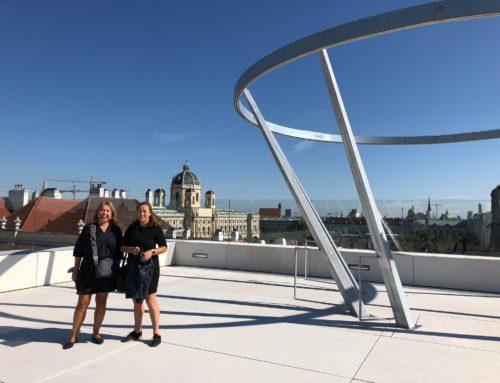 """Zeitgeist-Team bei der Besichtigung der neuen Event-Location """"MQ Libelle"""""""