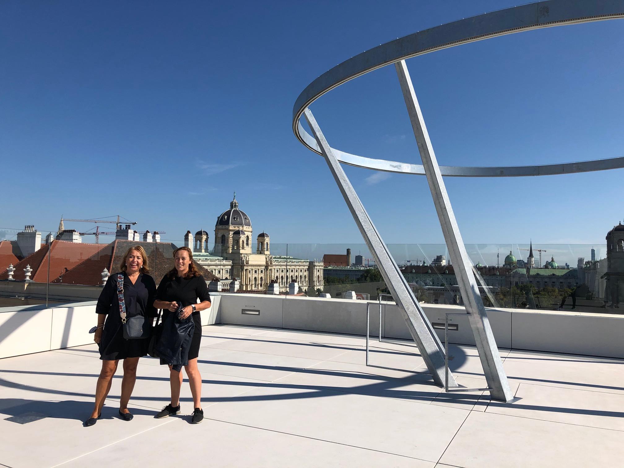 MQ Libelle. Blick über Wien